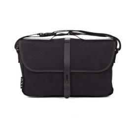 Brompton Black Shoulder Bag with frame