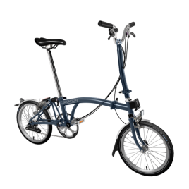 Brompton H6L in Tempost Blue, 2020 model