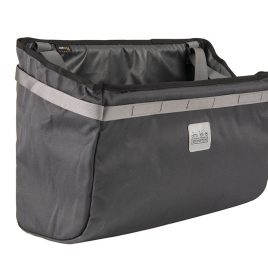 Borough Basket Bag in Dark Grey