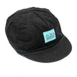 Cycling Cap in Black / Turkish Green from Logo Collection